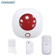 433MHz Wireless Alarm Siren Mini 110dB Sound & Light Flash Strobe Siren for Home Security Burglar Alarm Systems DIY Alarm System