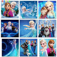 5D Diamond Painting Elsa Anna Princess Diy Full Square Round Cartoon Frozen Embroidery Craft Wall Art Gift For Home Decor 1Bxqy4