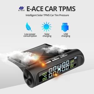 Image 2 - Système de surveillance dalarme de pression des pneus de voiture TPMS dénergie solaire de E ACE