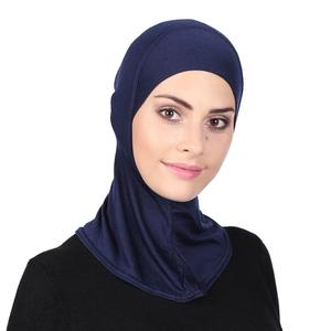 Solid Color Cotton Muslim Turban Cap For Women Full Cover Inner Hijab Caps Islamic Underscarf Bonnet Neck Head Under Scarf Cap