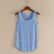 Top-Vest Soft-Tops Hot-Cropped Women Ladies Camisole Sexy Solid Sleeveless for 7-Colors