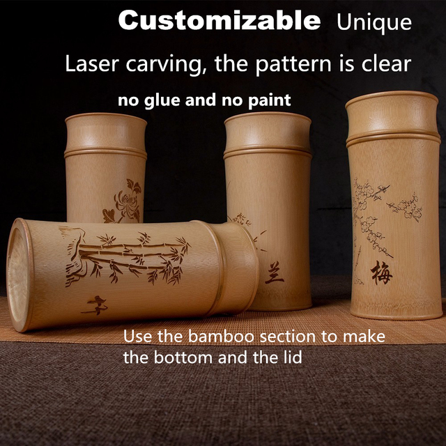 Large Capacity Natural Bamboo Storage Jars For Bulk Products Kitchen Accessories Container Bottle Spices Tea Box Caddy Sealed 4