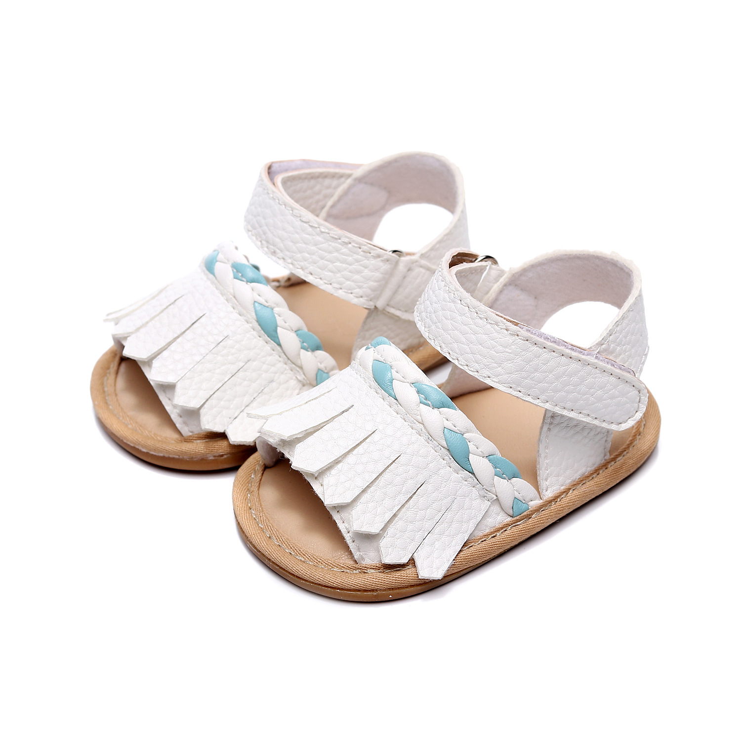 2020 Fashion Tassel Baby Girls Summer Shoes Infant Toddler First Walkers New Style Baby Leather Clogs