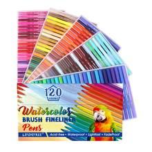 80 kolorów podwójny pędzel zestaw długopisów akwarela markery z dwustronnymi końcówkami, jasne i żywe kolory, nie zawiera kwasu 80 różnych odcieni