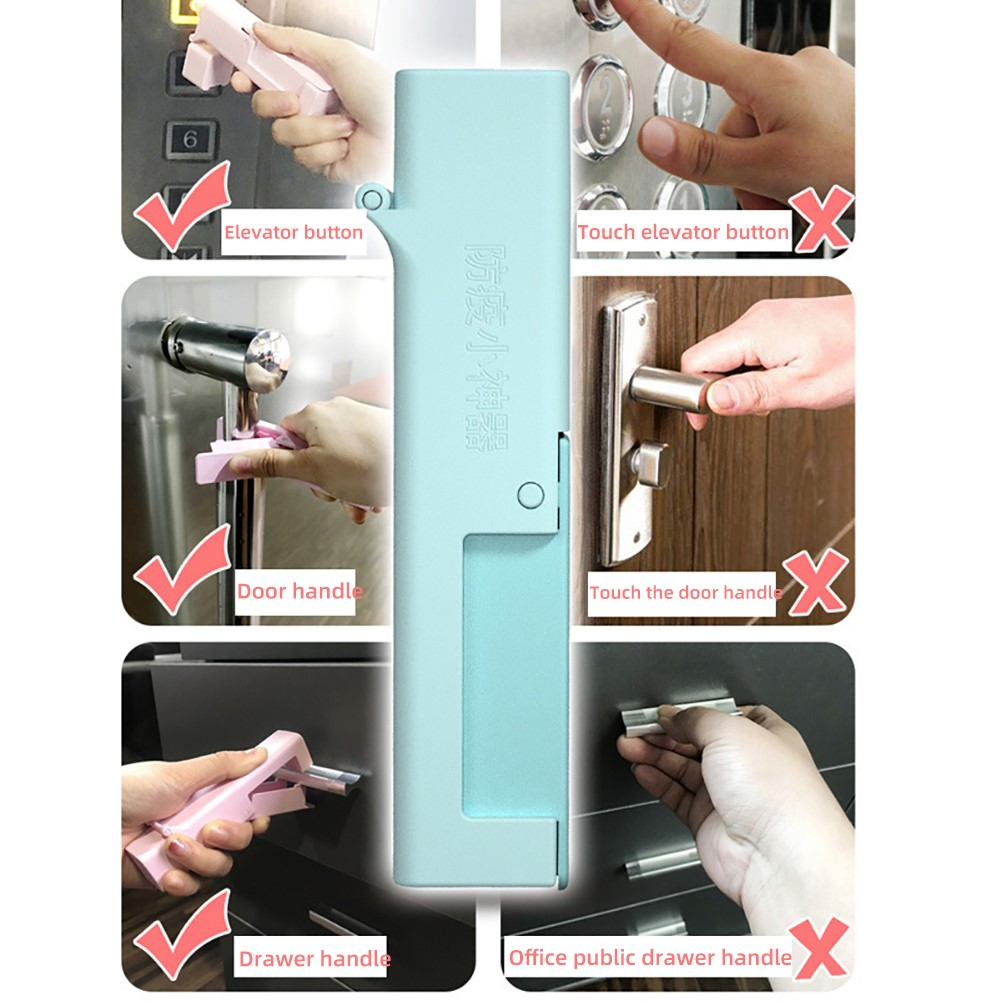 New No Touch Portable Anti Bacteriaed Elevator Button Drawer Door Handle Assistant Protection Hand Personal Care Appliance