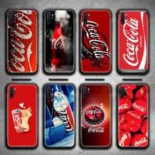 Bebida cola caixa do telefone para samsung galaxy note20 ultra 7 8 9 10 plus lite m51 m21 m31 j8 2018 prime