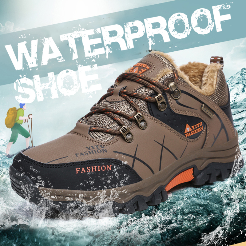 Outdoor Mountain Desert Climbing Shoes Men Ankle Hiking Boots Plus Size Fashion Classic Trekking Boots Tactical Military Boots