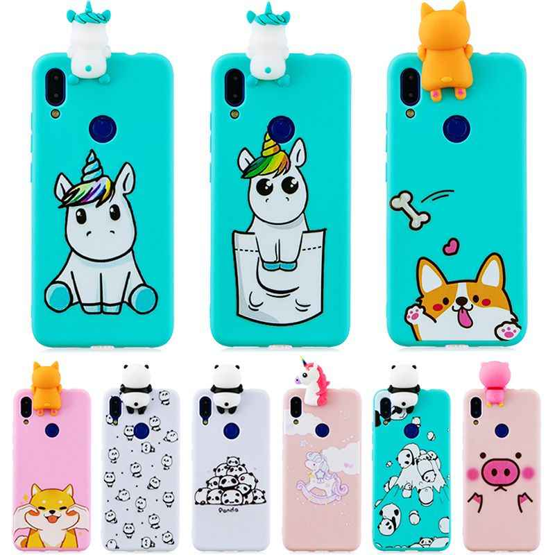 for Xiaomi Redmi Note 7 Case Silicone Case on sFor Coque Xiaomi Redmi Note 7 Note5 6 7 Pro Cover 3D Doll Toys Soft Phone Cases