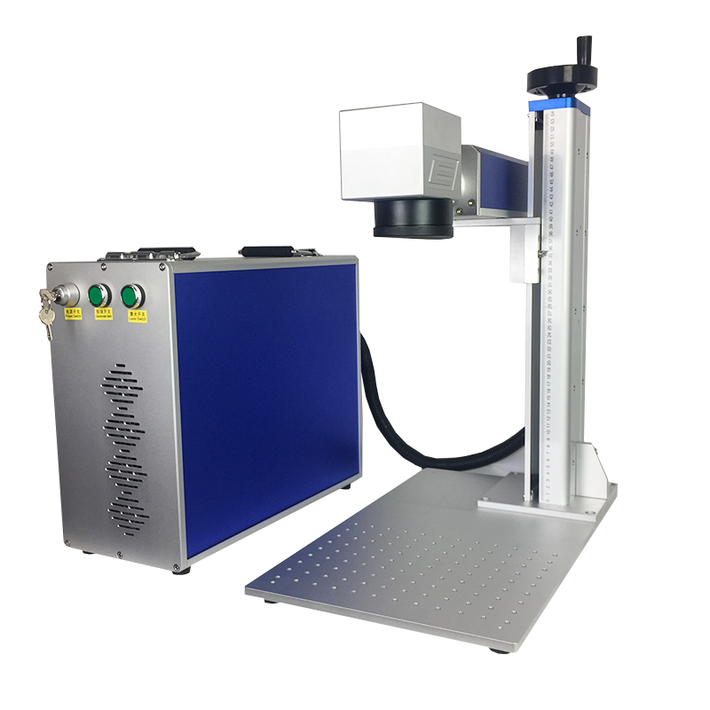 For Sale Raycus Laser Marking Machine 30w 200x200mm Work Area Up And Down Table BMP ,HPGL,PLT,DST Phone Cover Nameplate