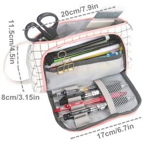 Image 3 - חדש סופר קלמר Kawaii גדול קיבולת Pencilcase מקרה עט בית ספר אספקת עיפרון תיק בית ספר תיבת עפרונות פאוץ מכתבים