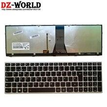 Neue Original Spanien Laptop Beleuchtete tastatur für Lenovo Z51 70 Ideapad 500 15ISK serie 5N20H03520 5N20H03456