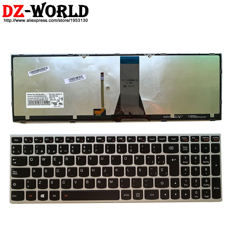 New Original Spain Laptop Backlit  Keyboard For Lenovo Z51-70 Ideapad 500-15ISK Series 5N20H03520 5N20H03456