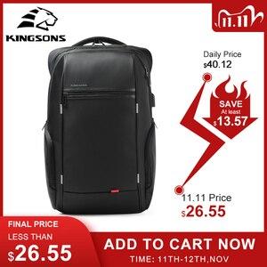 Image 1 - Kingsons mochila masculina antirroubo, mochila masculina de 13 15 e 17 para laptop viagem masculina moda