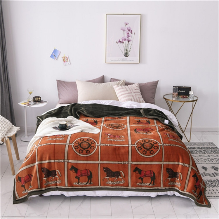 Nordic Flannel Blanket Ab Version Summer Quilt Soft decorative Throw Blanket Nap Office Air conditioned Sofa Cover Blanket|Blankets| - AliExpress