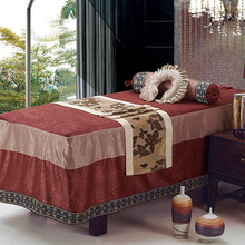 Beauty Bed Cover Four Sets Of Cotton And Linen Beauty Salon Body Massage Tattoo Bed Set Simple Four Seasons Universal