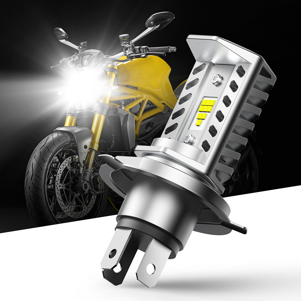 1pcs 9003 H4 Led Motorbike 9003 H4 15W LED 3 COB Motorcycle Headlight H4 Bulb 16000LM 6500K White Hi/Lo Beam Light SEOUL CSP Y19