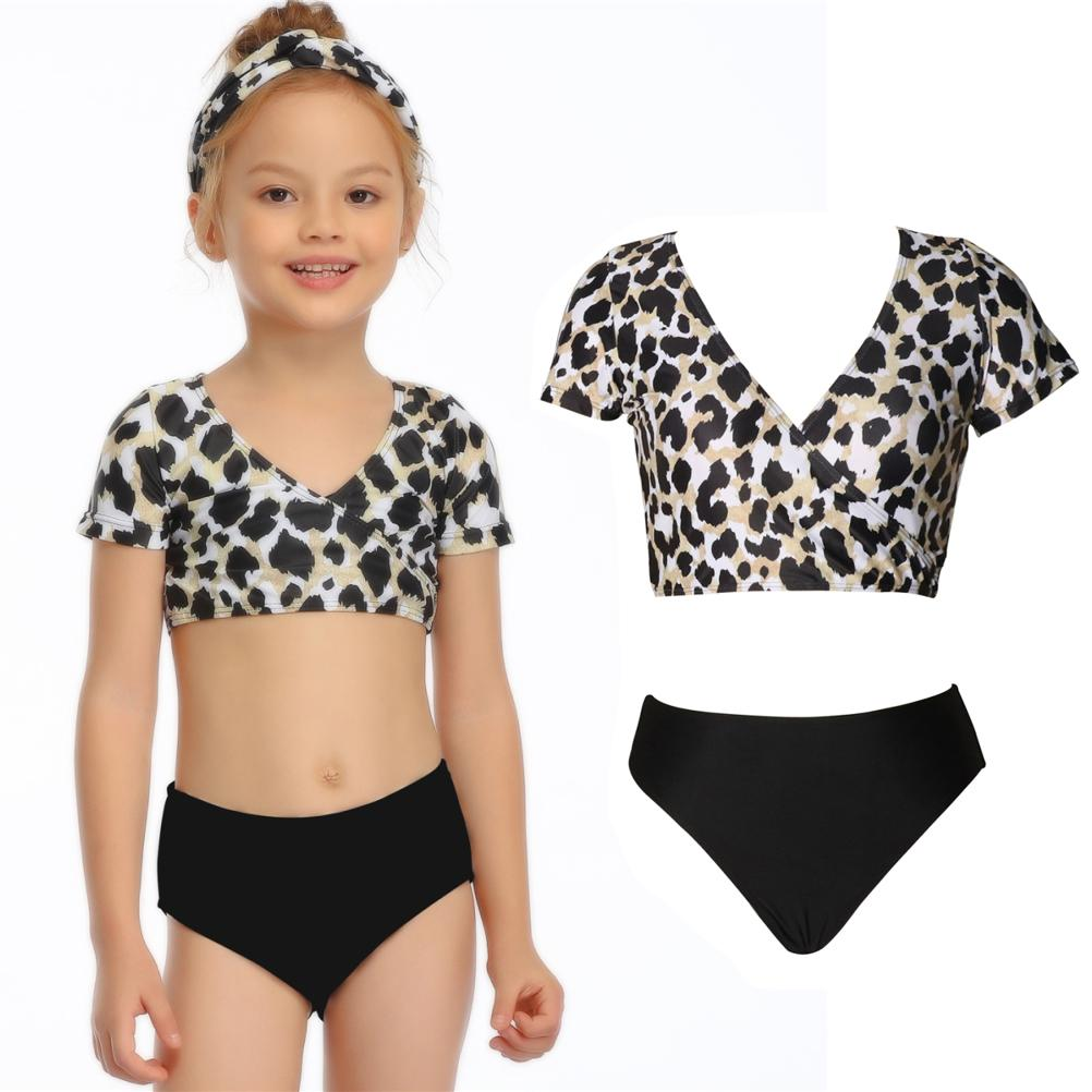 Happy Summer Sea Holiday Girl Swimwear Comfortable Breathable Parent-child Swimsuit Girl Beach Bathing Suit Swimming Clothes