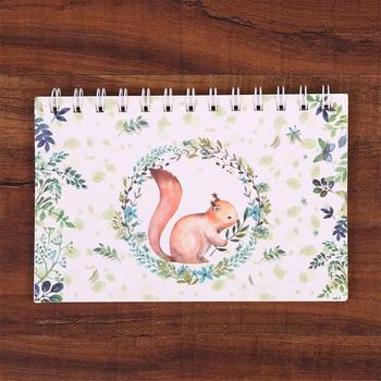 Weekly Daily Month Spiral Kraft Planner Notebook Agenda 2019 2020 Deer School Zeszyt Notebooks And Journals Papelaria Cadernos 1