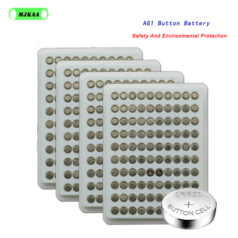 400PCS AG1 1.55V 364 SR621SW LR621 621 LR60 CX60 Alkaline Button Coin Cell Batteries Watch Battery