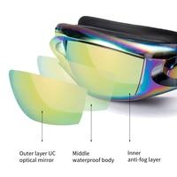 Swimming Goggles Swimming ear plugs professional Waterproof glasses HD Anti-Fog UV Silicone Adjustable Glasses Men Clear goggles