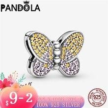 2020 новый 925 стерлингового серебра паве зажим бабочка браслеты