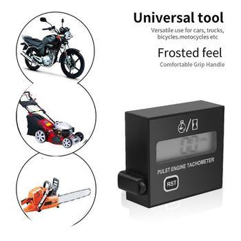 цена на Motorcycle Chainsaw High Tachometer Gasoline Engine lawn Digital Display Inductive Pulse Speed Tachometer