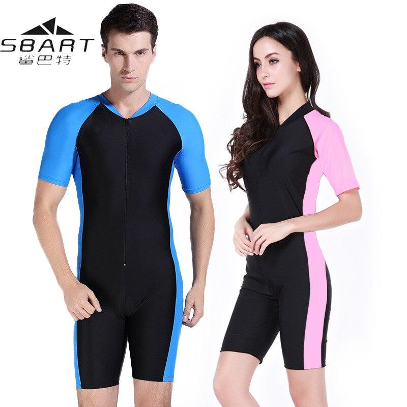 Женский и мужской купальный костюм Sbart, гидрокостюм из лайкры с коротким рукавом и защитой от ультрафиолета, для серфинга и дайвинга