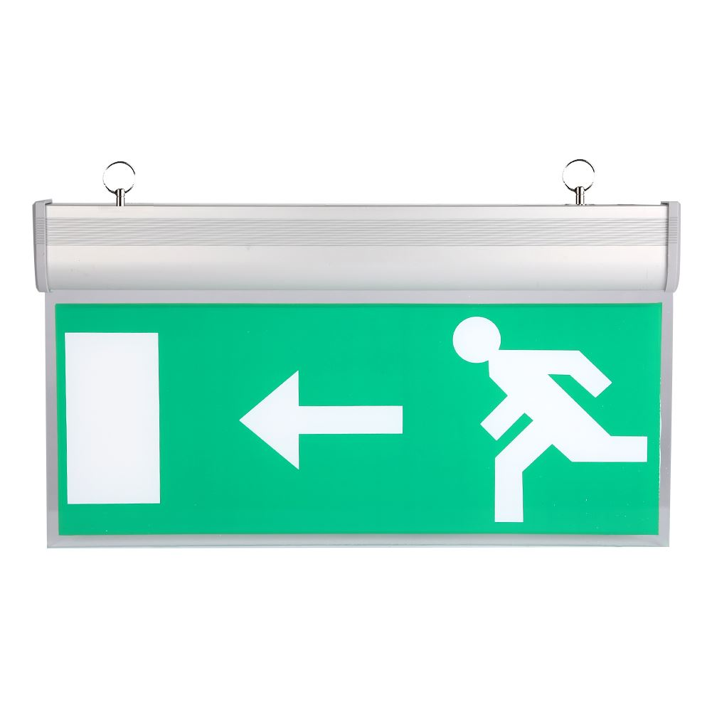 New Left/Right/EXIT/ Acrylic LED Emergency Exit Lighting Sign Safety Evacuation Indicator Light 110-220V Hanging Led Exit