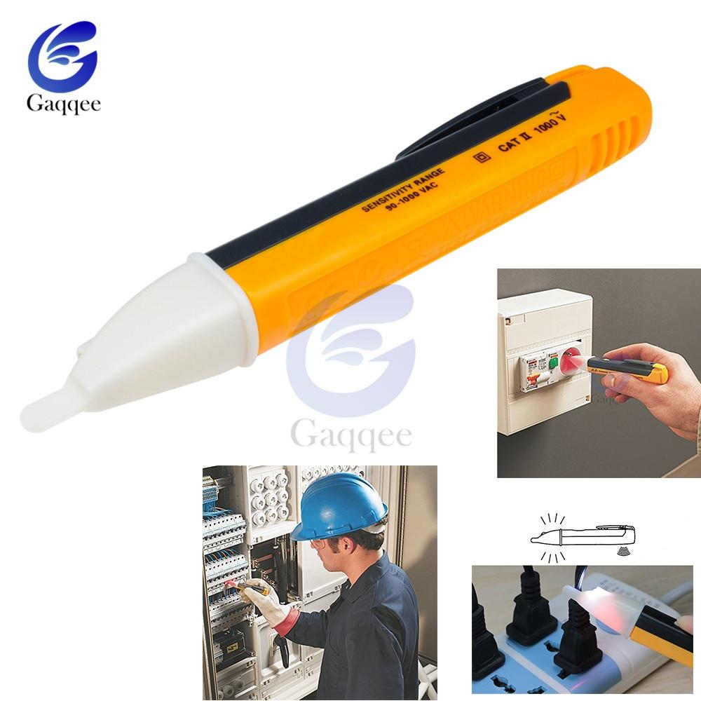 Электрический индикатор 90-1000 В бесконтактная розетка настенная розетка переменного тока тестер датчика детектора напряжения ручка светод...