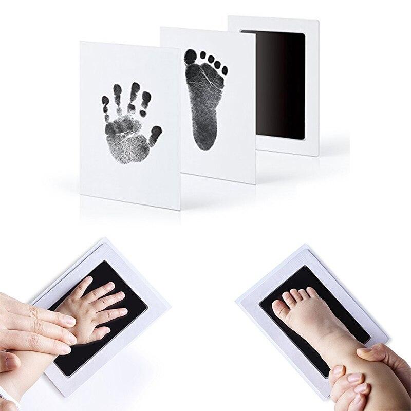 Детская Нетоксичная ручная печать, набор для отпечатка ступней, сувениры для малышей, литье, сделай сам, фоторамка для новорожденной руки, к...
