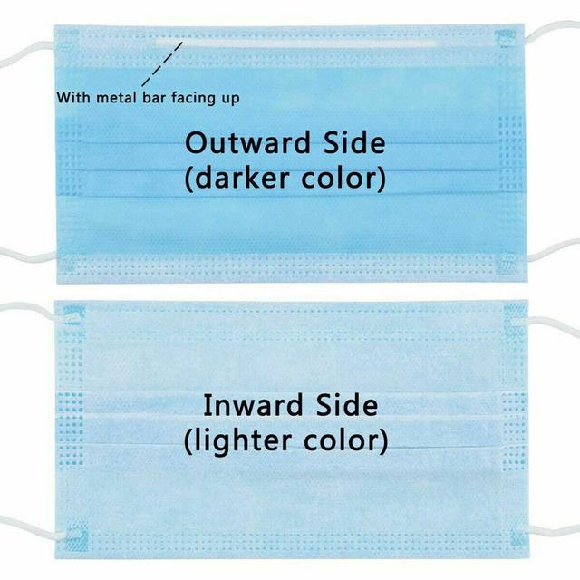 10-200Pcs/Pack Disposable mask 3-Layer Non-woven Disposable Elastic Mouth Soft Breathable Flu Hygiene 2