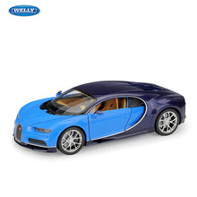 WELLY  Bugatti Chiron Car sports car simulation alloy car model crafts decoration collection toy tools gift все цены