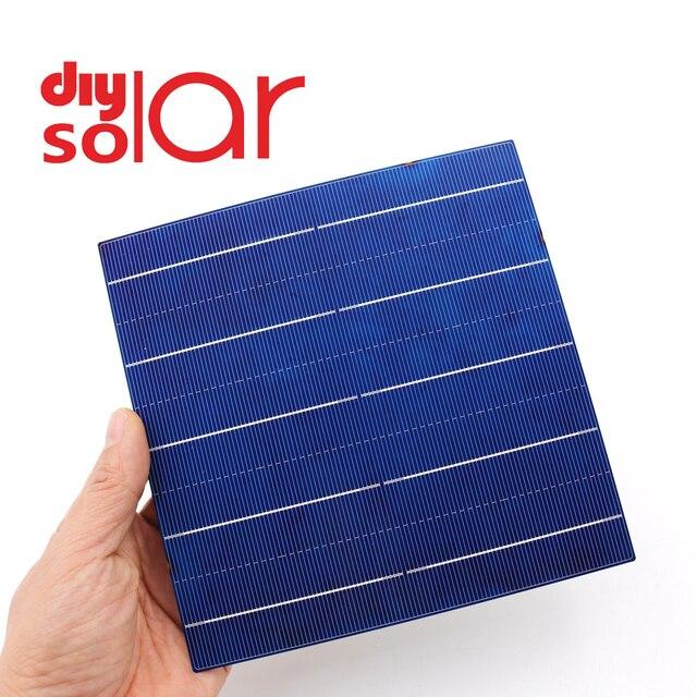 10 50 100 Pcs 4.79 W 156x156 MM פולי תאים סולריים 6x6 כיתה polycrystalline PV DIY פוטו Sunpower C60 שמש פנל