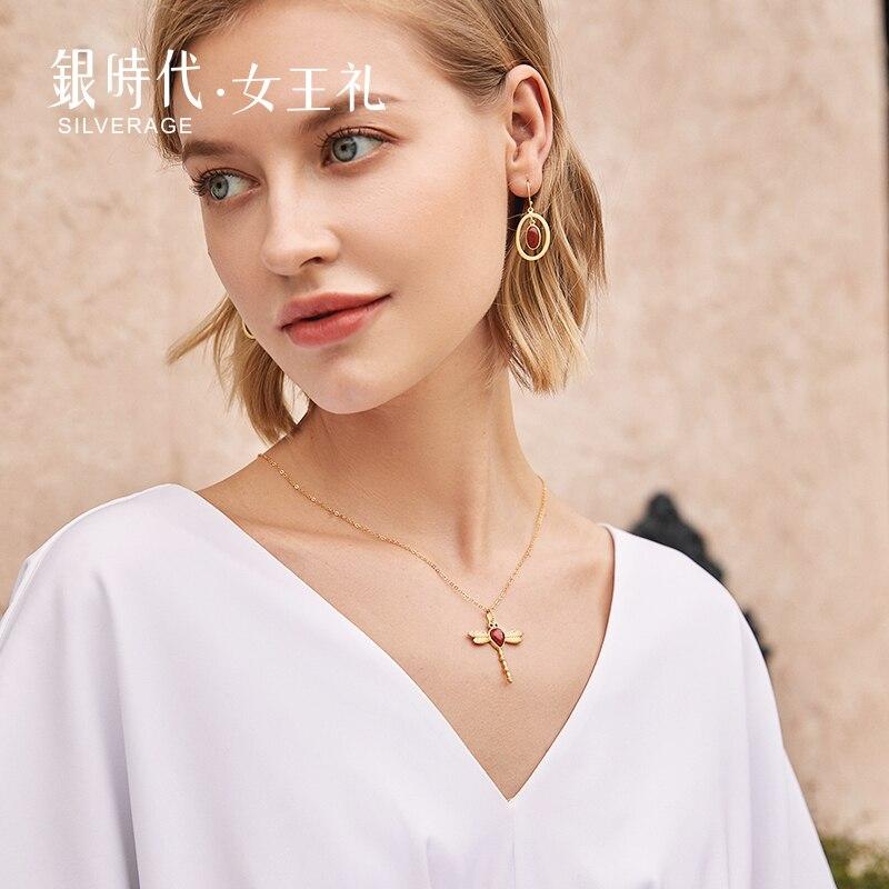 Купить sa silverage 2020 ожерелье оригинальный дизайн 925 пробы серебряная