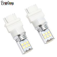 2Pcs 3156 LED Car Bulb Turn Signal Daytime Running Light White Lighting 4W 500LM Automatic Wedge 24V