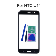 "For HTC U11 U 11 5.5"" Original Phone Touch Screen Front Outer Glass Panel Replacement With Adhesive + Tools"