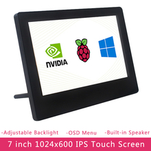 7 zoll Raspberry Pi 4 IPS Touchscreen 1024x600 LCD Einstellbare Helligkeit Display für PC Laptop Jetson Nano raspberry Pi 4B/3B +