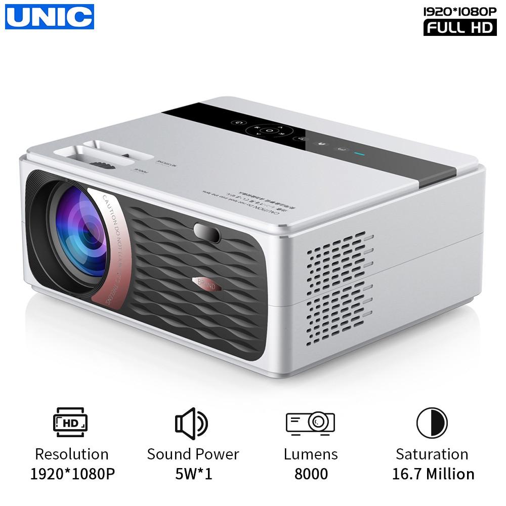 UNIC CP600 55W Full HD 1080P Projector 4K 8000 Lumens Cinema Proyector Beamer for Android WiFi hdmi VGA AV USB port