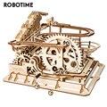 Robotime Rokr 4 Arten Marmor Run DIY Wasserrad Holz Modell Baustein Kits Montage Spielzeug Geschenk für Kinder Erwachsene Dropship