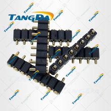 TANGDA pitch: 2,5mm SMT pogo pin stecker 8PIN POGOPIN anschlüsse 8P sonde 2*5mm 6mm 7mm 8mm 9mm 10mm SMD 2,54 16 12 10 8 6 W