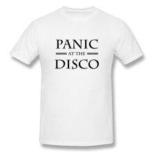 100% cotton Panic At The Disco Galaxy print casual mens o-neck t shirts fashion Mens Basic Short Sleeve T-Shirt