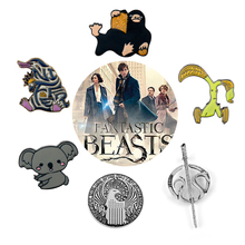 27 Styles Fantastic Beasts and Where to Find Them Niffler Brooches for Women Men Kids Metal Badge Brooch Enamel pins Gifts
