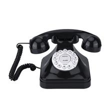Винтажный телефон, Многофункциональный пластиковый домашний телефон, Ретро античный телефон, проводной стационарный телефон, офисный домашний телефон, настольный декор