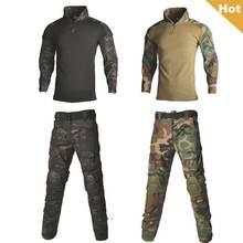 Тактическая Военная Мужская армейская спортивная униформа для