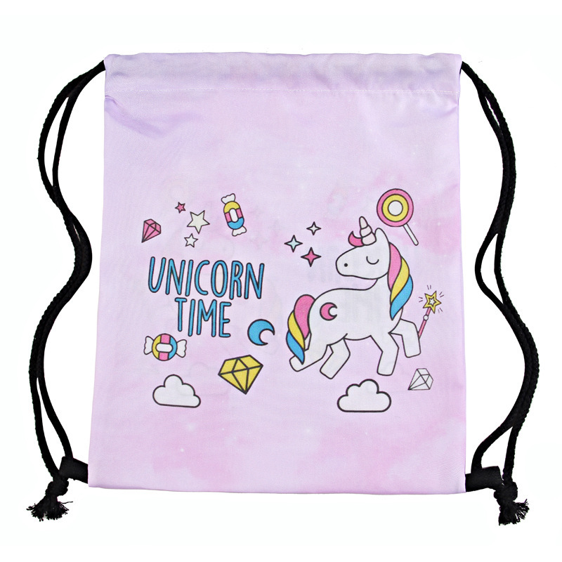 3 D Printed Unicorn Receiving Bundle Bag Amazon Explosive Tape Shoulder Backpack Bag 2019 in Drawstring Bags from Luggage Bags