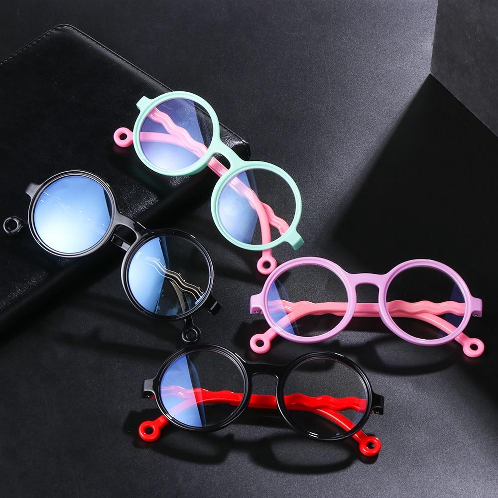 3-10 years old children blue light blocking glasses square soft silicone computer game glasses frame UV400 protective glasses