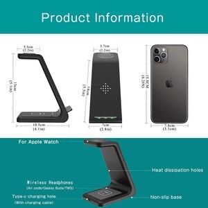 Image 3 - 3 en 1 chargeur sans fil pour Iphone 11/X Apple Watch Airpods Pro station daccueil de Charge sans fil pour Samsung S10 Samsung montre Galaxy bourgeons