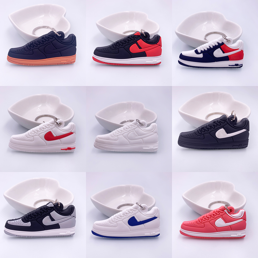 Mini Jordan Air Force 1 Keychain Shoe Men Women Key Ring Classic Color AJ Retro Generation Basketball Sneakers Key Chain