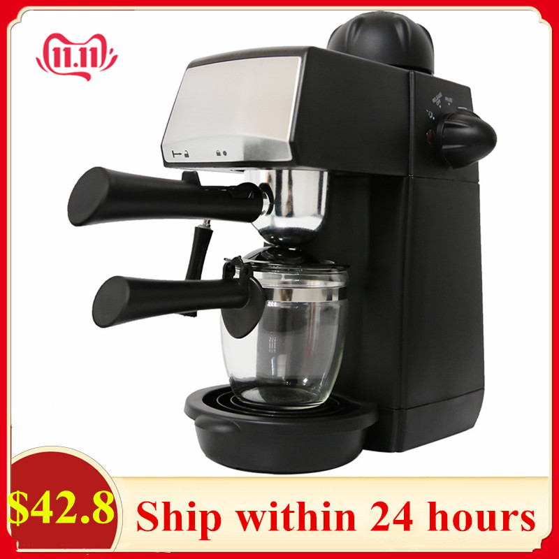 Sweet Alice SW-CRM2001 Semi-automatic Steam Type Espresso Coffee Machine 240ml Overheat Overvoltage Protection Coffee Maker J3