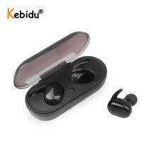 Kebidu W13 TWS หูฟังบลูทูธ TOUCH สเตอริโอไร้สาย 5.0 หูฟังหูฟังกีฬาพร้อมไมโครโฟนแฮนด์ฟรีสำหรับ Xiaomi